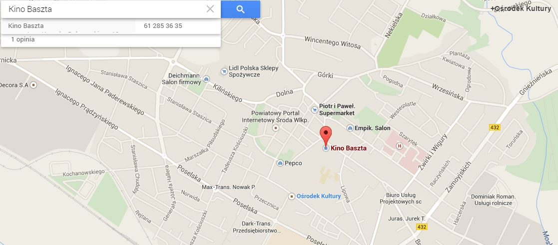 https://www.google.com/maps/place/Kino+Baszta/@52.227844,17.278226,17z/data=!3m1!4b1!4m2!3m1!1s0x4704fb1486abb8cd:0x1e0c84a0232bac24?hl=pl